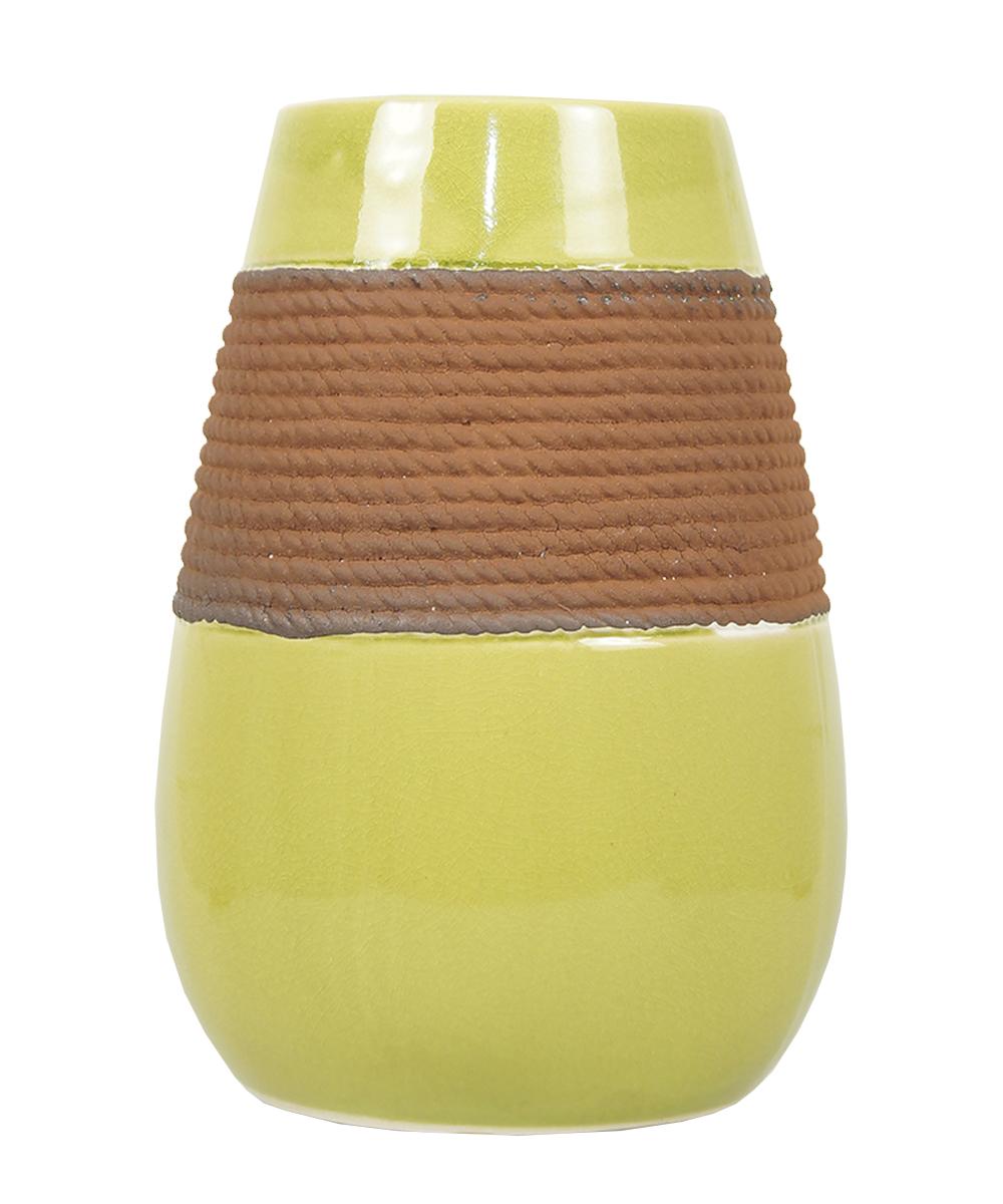 Ваза Этажерка Coletta, цвет: желтый, коричневый, высота 25 смL116-3Ваза Этажерка Coletta выполнена из высококачественной керамики и имеет изысканный внешний вид. Такая ваза станет идеальным украшением интерьера и прекрасным подарком к любому случаю. Высота вазы: 25 см.