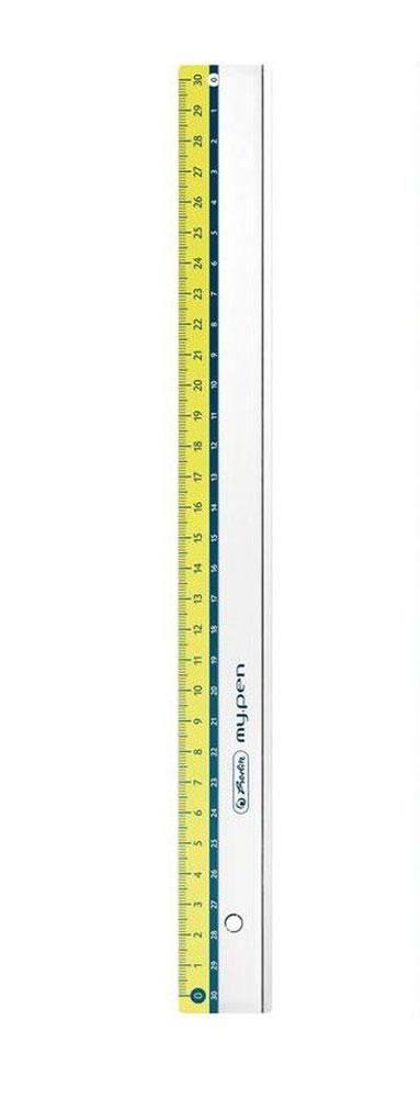 Herlitz Линейка My Pen цвет салатовый 30 см34650_желтый, зеленыйЛинейка Herlitz My Pen с делениями на 30 см выполнена из прочного пластика, обладает четкой миллиметровой шкалой делений. Линейка удобна для измерения длины и черчения. Подходит для правшей и левшей.