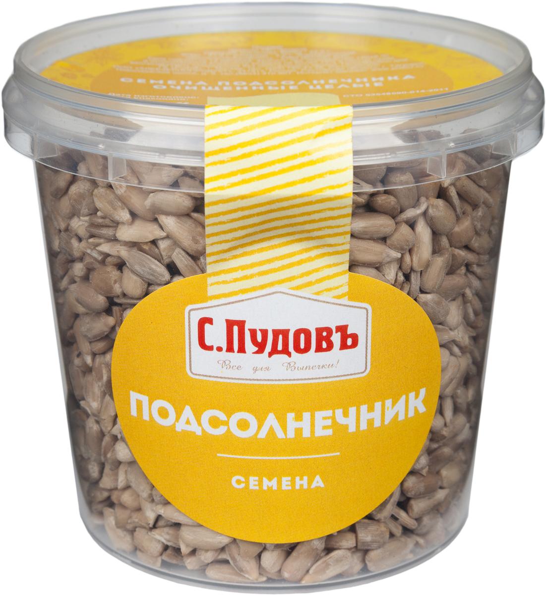 С. Пудовъ Пудовъ семена подсолнечника очищенные целые, 170 г 4607012297211