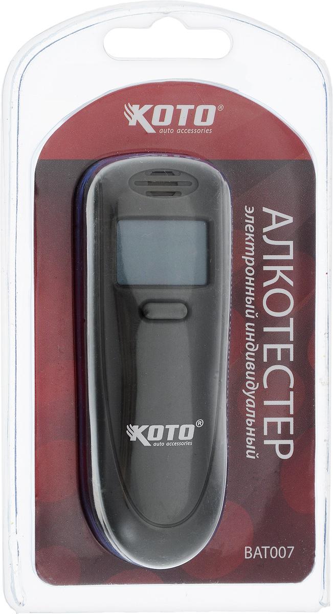 Алкотестер Kioki. BAT0074603726128070Алкотестер Kioki - анализатор паров алкоголя в выдыхаемом воздухе. Прибор пересчитывает полученные данные на концентрацию алкоголя в крови и выдает результат на жидкокристаллический дисплей. Автовыключение питания через 30 секунд.Размер алкотестера: 9 см х 3,3 см х 1 см.Диапазон измерений: 00-1,5% ВАС.Алкотестер работает от 2-х батареек типа ААА