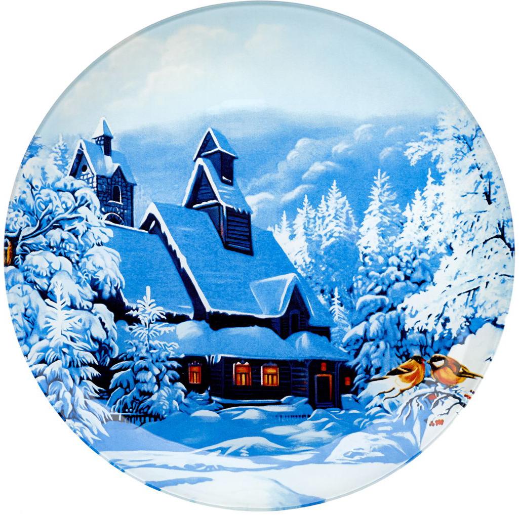 Блюдо сервировочное Walmer Winter Time, диаметр 25 смW22012525Сервировочное блюдо Walmer Winter Time с изображением зимнего пейзажа изготовлено из стекла. Блюдо отлично подойдет для сервировки различных блюд, например, сладостей или закусок. Интересная подача в таком необычном блюде порадует детей и ваших гостей.