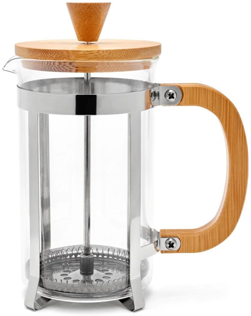 Френч-пресс Walmer Bamboo, 600 млVT-1520(SR)Френч-пресс Bamboo используется для заваривания крупнолистового чая, кофе среднего помола, травяных сборов. Изготовлен из высококачественной нержавеющей стали и термостойкого стекла, выдерживающего высокую температуру, что придает ему надежность и долговечность. Крышка и ручка сделаны из бамбука.Можно мыть в посудомоечной машине.Объем: 600 мл.Размеры френч-пресса: 14,5 х 8 х 18,3 см.