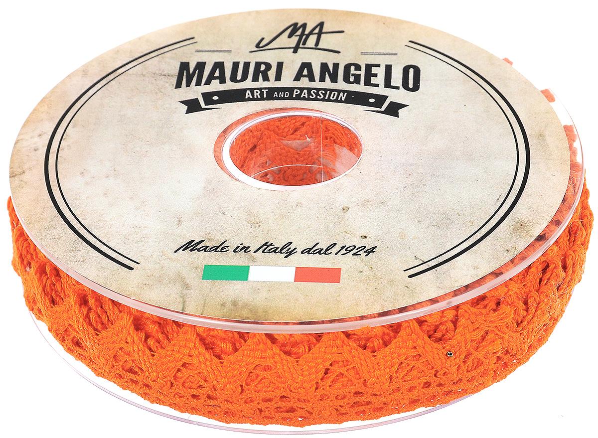 Лента кружевная Mauri Angelo, цвет: оранжевый, 1,8 см х 20 мMR2710/031Декоративная кружевная лента Mauri Angelo выполнена из высококачественного хлопка. Кружево применяется для отделки одежды, постельного белья, а также в оформлении интерьера, декоративных панно, скатертей, тюлей, покрывал. Главные особенности кружева - воздушность, тонкость, эластичность, узорность. Такая лента станет незаменимым элементом в создании рукотворного шедевра.