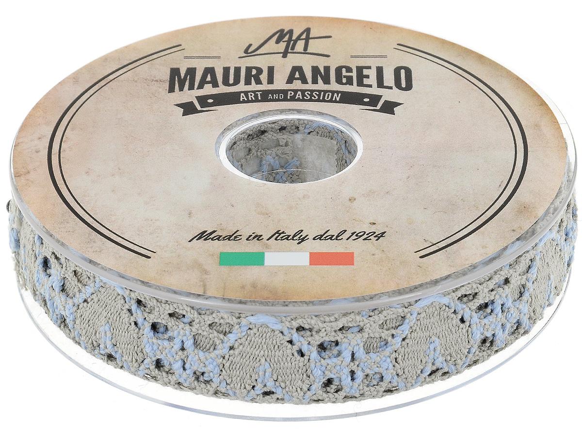 Лента кружевная Mauri Angelo, цвет: бежевый, голубой, 2,7 см х 10 мMR3493/PG/8Декоративная кружевная лента Mauri Angelo выполнена из высококачественного хлопка. Кружево применяется для отделки одежды, постельного белья, а также в оформлении интерьера, декоративных панно, скатертей, тюлей, покрывал. Главные особенности кружева - воздушность, тонкость, эластичность, узорность. Такая лента станет незаменимым элементом в создании рукотворного шедевра.