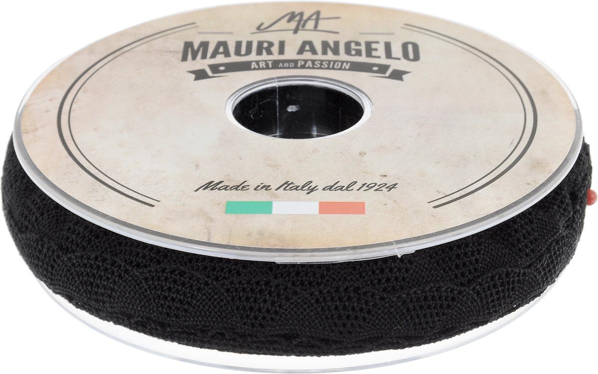 Лента кружевная Mauri Angelo, цвет: черный, 2 см х 20 мMR2080/009Декоративная кружевная лента Mauri Angelo выполнена из высококачественного хлопка. Кружево применяется для отделки одежды, постельного белья, а также в оформлении интерьера, декоративных панно, скатертей, тюлей, покрывал. Главные особенности кружева - воздушность, тонкость, эластичность, узорность. Такая лента станет незаменимым элементом в создании рукотворного шедевра.