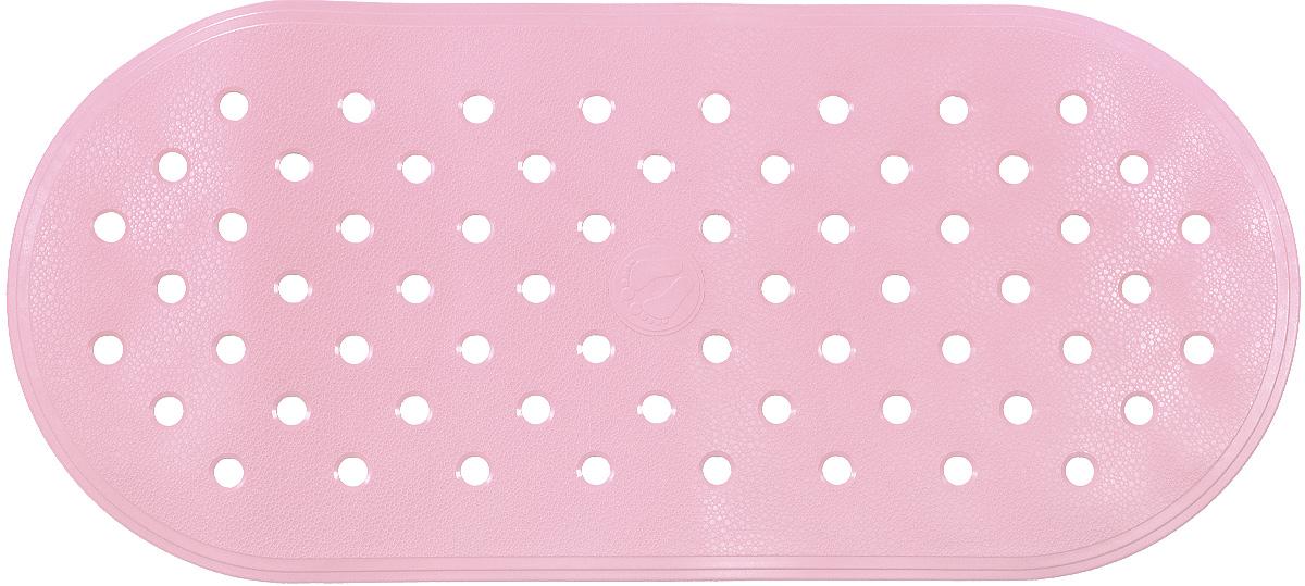 Коврик для ванной Ridder Action, противоскользящий, на присосках, цвет: светло-розовый, 36 х 80 см коврик для ванной ridder park противоскользящий на присосках цвет бежевый 54 х 54 см