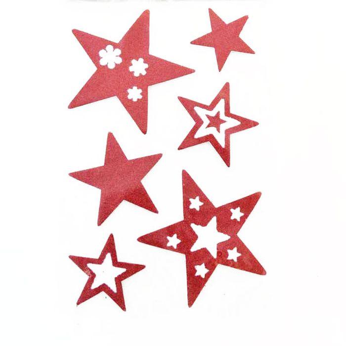 Наклейка-панно декоративная Winter Wings Звездочки, 20 х 30 см. N09222N09222Наклейка панно ЗВЕЗДОЧКИ, прозрачная цветная с блестящей крошкой, 20х30 см , ПВХ