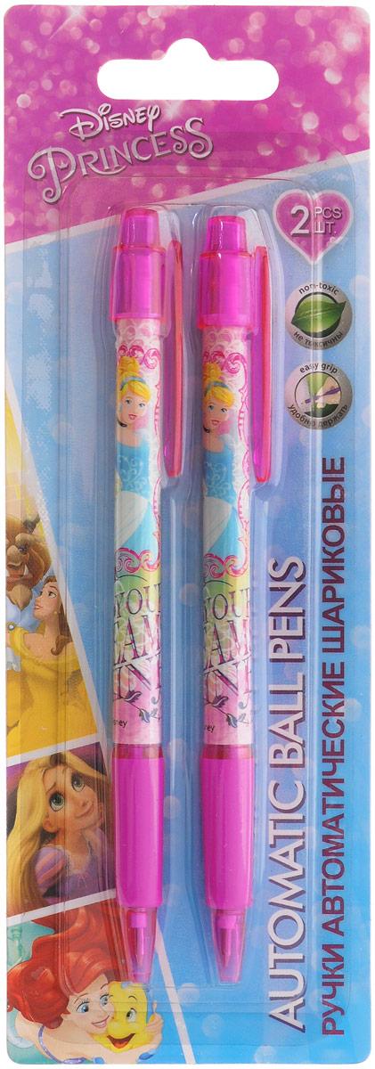 Disney Princess Набор шариковых ручек цвет чернил синий 2 штPRDB-US1-116-BL2Автоматические шариковые ручки Disney Princess станут незаменимым атрибутом в учебе любой школьницы. Каждая ручка снабжена резиновым упором для пальцев, который обеспечивает комфортное письмо. Подача стержня производится путем нажатия на кнопку в верхней части ручки. Качественный пишущий узел. В наборе две ручки со стержнями синего цвета.