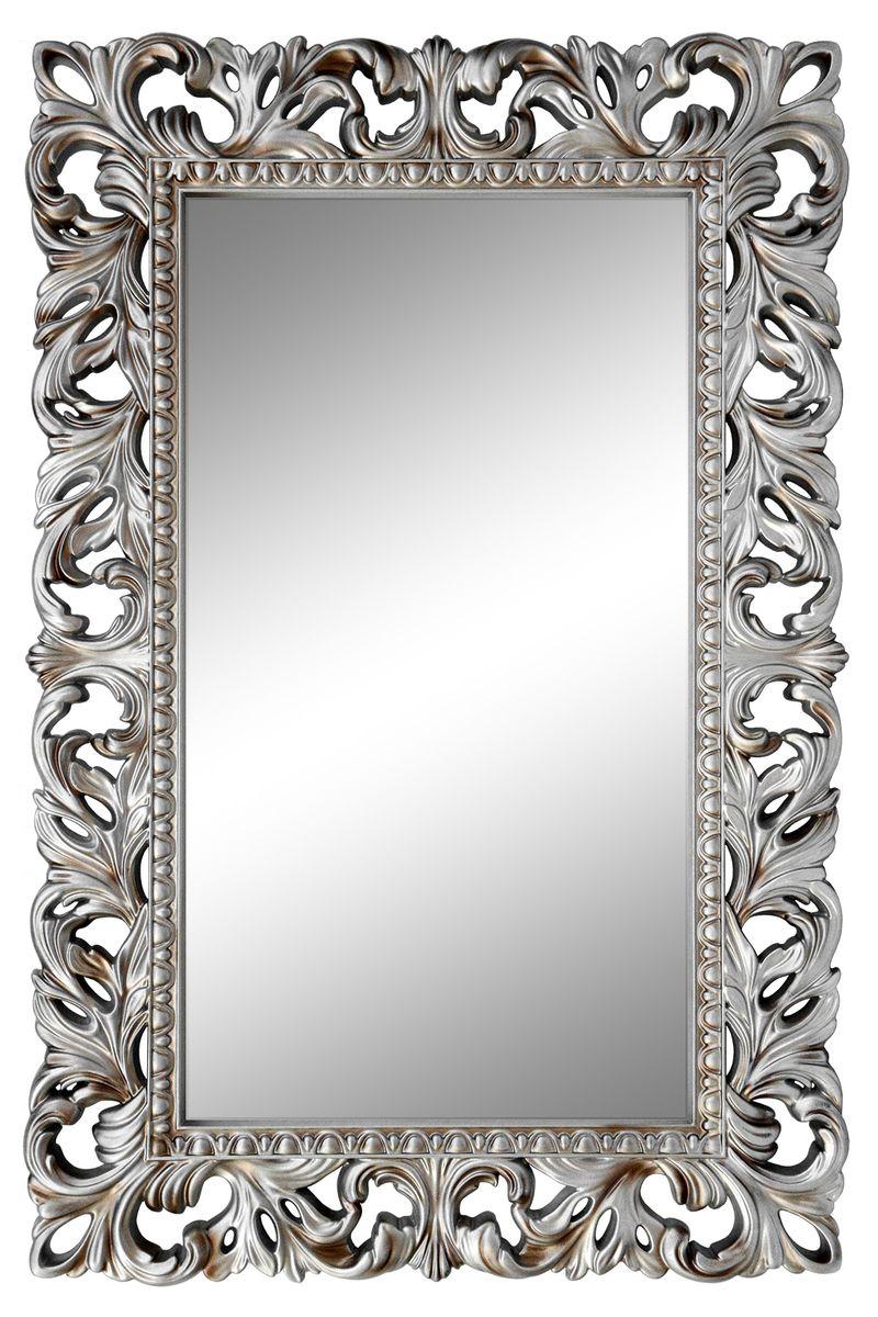 Зеркало VezzoLLi Италиа, цвет: серый металлик, 115 х 75 см94672С обратной стороны зеркало снабжено тремя металлическими подвесами для возможности разместить его и вертикально и горизонтально.
