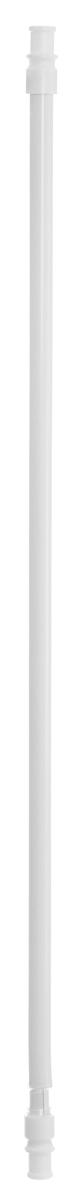 Карниз однорядный Эскар Калифорния, металлический, телескопический, цвет: белый, диаметр 12 мм, длина 55-85 см9000812085Круглый карниз Эскар Калифорния выполнен из металла. Подходит для использования одного вида занавесей. Поверхность гладкая. Крепление производится на раму, при помощи держателей на двухсторонний скотч или саморезы. В комплект входят: карниз, 2 коротких кронштейна, 2 длинных кронштейна, 8 саморезов, 4 полоски двухстороннего скотча. Такой карниз будет органично смотреться в любом интерьере. Диаметр карниза: 12 мм.