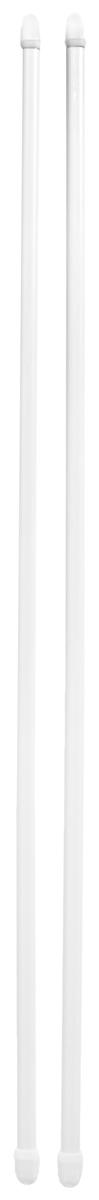 Штанга однорядная Эскар, металлическая, телескопическая, цвет: белый, длина 60-90 см, 2 шт9200800060Витражная штанга Эскар - это не только аксессуар для штор, но и элемент декора. Изделие выполнено из металла. Держатели штанг вкручиваются в раму в предварительно рассверленное отверстие. В комплект входят: 2 штанги, 6 крючков для крепления. Оригинальная и стильная штанга дополнит интерьер любой комнаты. Длина карниза: 60-90 см.