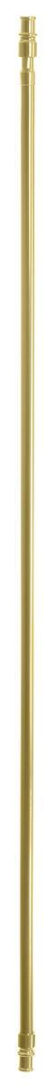 Карниз однорядный Эскар Калифорния, металлический, телескопический, цвет: латунь, диаметр 12 мм, длина 85-135 см9080012135Круглый карниз Эскар Калифорния выполнен из металла. Подходит для использования одного вида занавесей. Поверхность гладкая. Крепление производится на раму, при помощи держателей на двухсторонний скотч или саморезы. В комплект входят: карниз, 2 коротких кронштейна, 2 длинных кронштейна, 4 самореза, 4 полоски двухстороннего скотча. Такой карниз будет органично смотреться в любом интерьере. Диаметр карниза: 12 мм.
