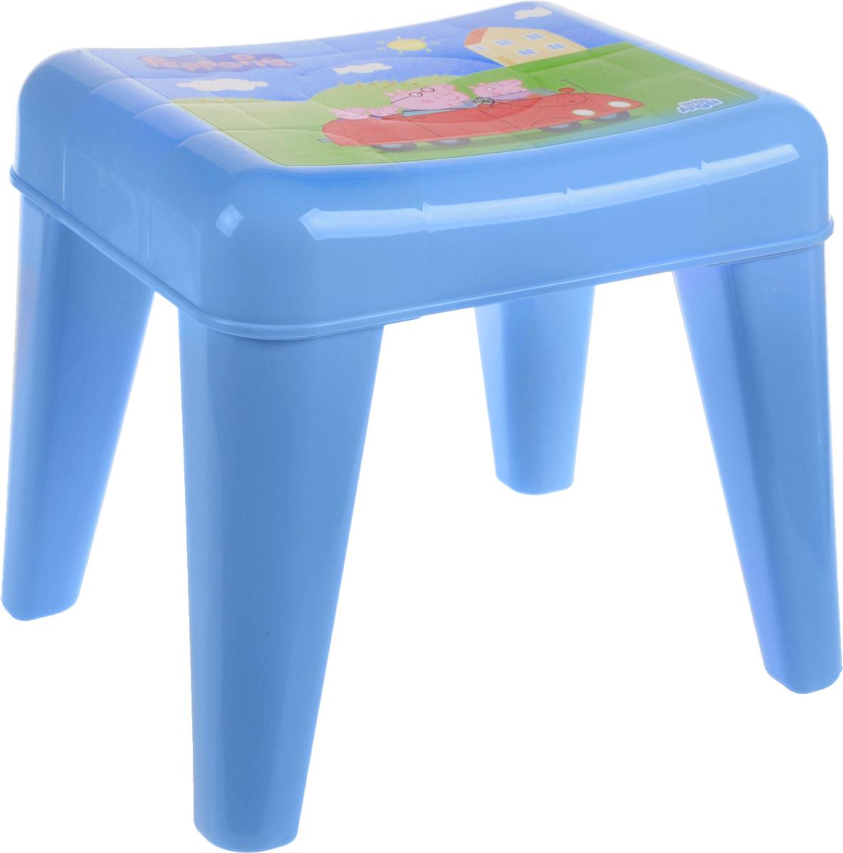 Табурет детский Little Angel Свинка Пеппа. Я расту, цвет: голубой, зеленый, розовый, 35 х 29,5 х 30 смLA4522РРГЛТабурет Little Angel Свинка Пеппа. Я расту разработан специально для детей. Изготовлен из безопасного нетоксичного полипропилена. Закругленные углы сиденья и ножек обеспечивают безопасность малыша. Поверхность сиденья нескользящая, благодаря чему игры и обучение будут более комфортными. На ножках имеются противоскользящие резиновые накладки. Рекомендован для детей от 2 до 6 лет.