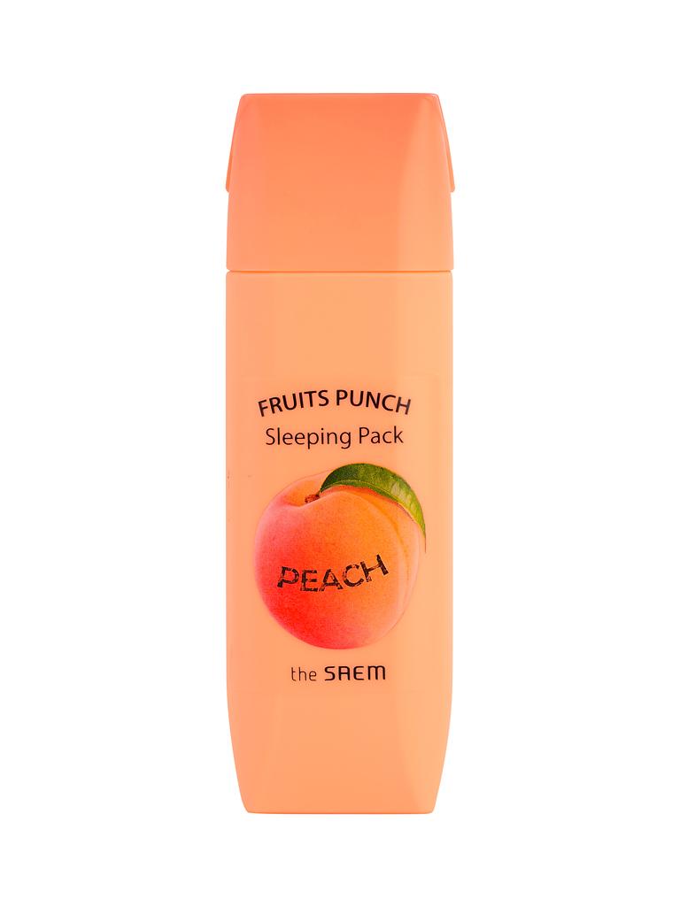 The Saem Маска ночная персиковый пунш Fruits Punch Peach Sleeping Pack, 100 млСМ2119Персиковая ночная маска для лица. Осветляющая и питательная формула с мощной дозой экстракта персика содержит компоненты (бетаин, гиалуроновая кислота, масла, медовая вытяжка и др.), необходимые для правильной жизнедеятельности клеток тусклой кожи. Фруктовые кислоты хорошо осветляют и отшелушивают ороговевшие клетки, ценные вещества помогают поддерживать кожу в тонусе и разглаживают морщинки. После великолепного «фруктового пунша» Ваша кожа становится изумительно гладкой, сияющей и обновленной. Объем: 100мл