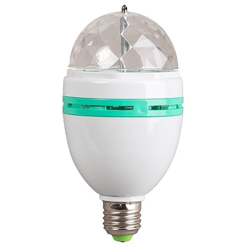Диско-лампа светодиодная Neon-Night, цоколь Е27, 220ВC0027374Светодиодная диско-лампа представляет собой устройство для создания эффекта цветомузыки. Выполнена из пластикового корпуса в виде привычной лампочки, содержит внутри моторчик, который создает динамическое вращение потока разноцветных лучей. Благодаря цоколю е27 вы можете легко вкрутить диско-лампу в Вашу люстру или торшер и устроить настоящую вечеринку прямо у Вас дома или на даче. Также Вы можете использовать цоколь с выключателем (приобретается отдельно) - просто вкрутите в него Вашу диско-лампу и подключите переходник в розетку 220В. Не ограничивайте себя в вопросе выбора места Вашей дискотеки! Создайте вечеринку уже сейчас!