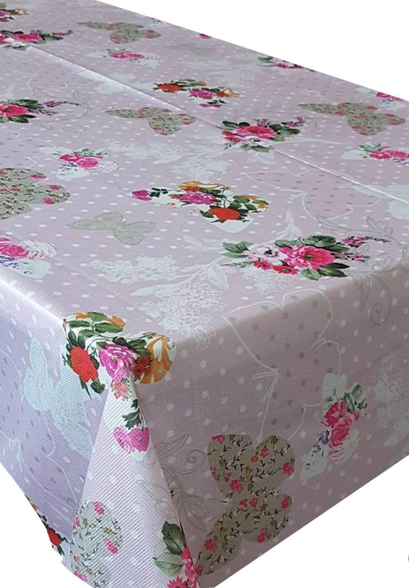 Скатерть Ambesonne Бабочки и цветы на розовом фоне, прямоугольная, 150 x 220 смBM1510CARMENPEMBE_AВеликолепная скатерть Ambesonne, выполненная из полиэстера, создаст атмосферу уюта и домашнего тепла в интерьере вашей кухни. В современном мире кухня - это не просто помещение для приготовления и приема пищи. Это особое место, где собирается вся семья и царит душевная атмосфера.