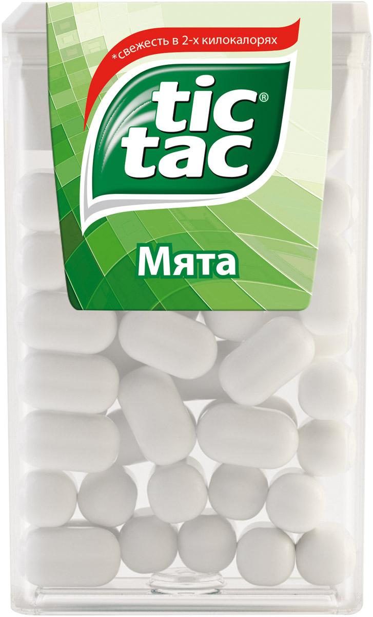 Tic Tac Мята драже, 16 г77116613/77111682/77095788Тик Так – это освежающее драже c ярким и бодрящим вкусом в удобной упаковке. Тик Так пришел на российский рынок в 90-ые годы 20 века и по сей день является любимым и хорошо знакомым взрослым и детям продуктом. Мята, Апельсин, Клубничный Микс и Мятный Микс – калейдоскоп вкусов Тик Так дарит заряд свежести и позитивной энергии. Под тонкой ванильной оболочкой скрывается уникальный вкус и источник свежести. Это больше, чем двойной эффект и второе дыхание! Яркое драже Тик Так с незабываемо свежими вкусами поможет наполнить твой день яркими моментами!