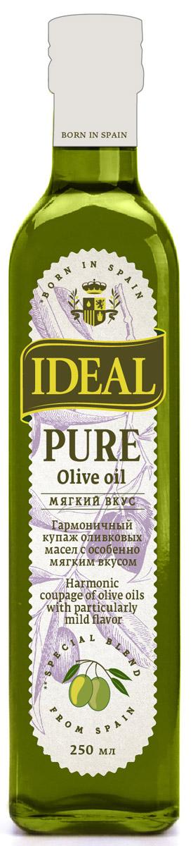 Ideal Pure масло оливковое, 0,25 л0120710Каждая хозяйка знает, что в кулинарии важна любая мелочь для создания идеальной композиции вкусовых оттенков. Именно поэтому многие выбирают масло IDEAL Pure, будучи уверенными, что в каждой бутылке всегда один и тот же вкус, состав, консистенция, наивысшие показатели качества.