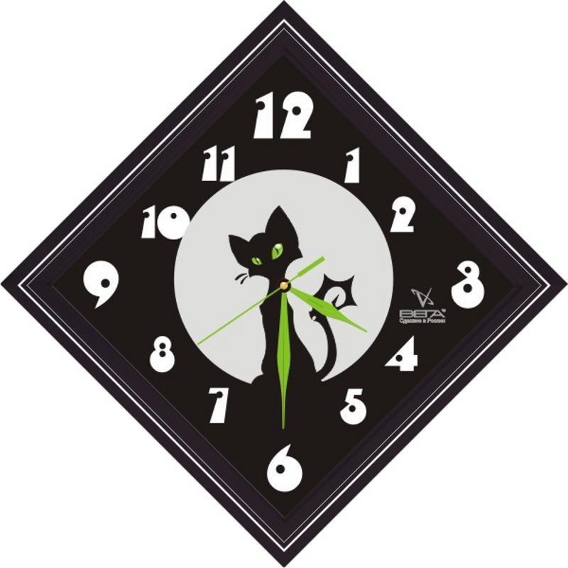 Часы настенные Вега Черный котП3-673-1