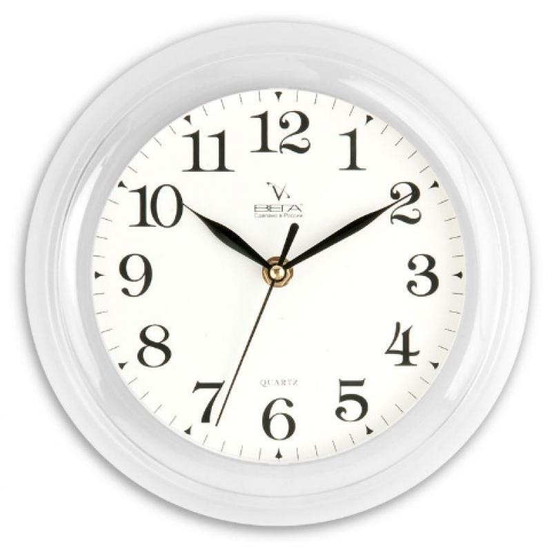 Часы настенные Вега Классика, цвет: белый. П6-7-19П6-7-19