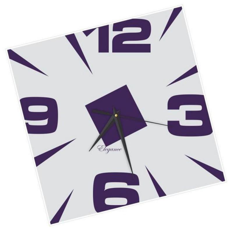 Часы настенные Вега Ромб фиолетовыйСО2-2