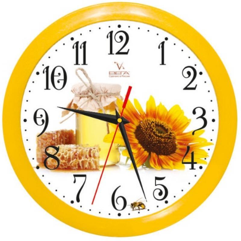 Часы настенные Вега Медовый спасП1-2/7-118