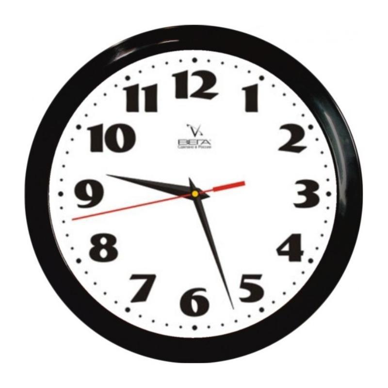 Часы настенные Вега Классика, цвет: черный. П1-6/6-45П1-6/6-45