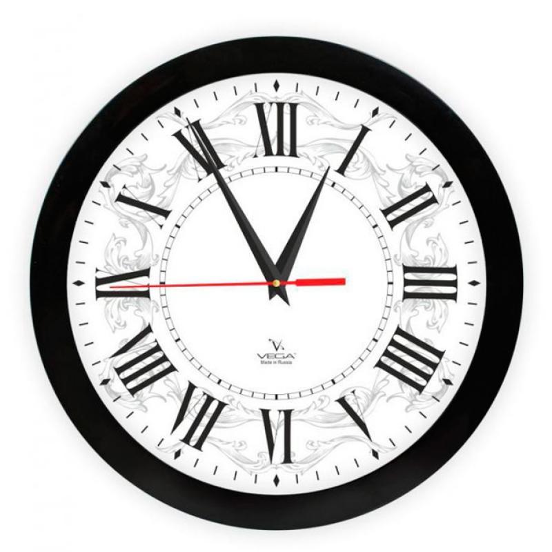 Часы настенные Вега Римская классикаП1-6/7-277