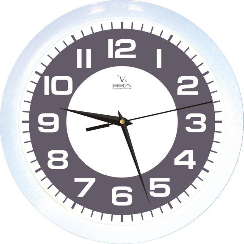 Часы настенные Вега Классика, цвет: черно-белыйП1-7/7-77