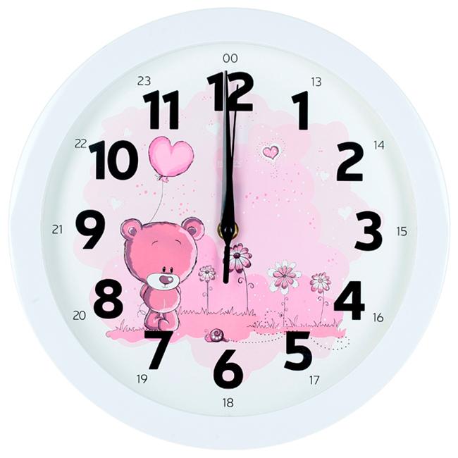Часы настенные Вега Розовый медвежонокП1-7/7-203