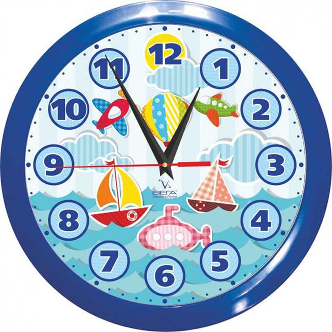 Часы настенные Вега Кораблики детскиеFS-91909Оригинальные настенные часы круглой формы Вега Кораблики детские выполнены из пластика. Часы имеют три стрелки - часовую, минутную и секундную. Необычное дизайнерское решение и качество исполнения придутся по вкусу каждому. Оформите свой дом таким интерьерным аксессуаром или преподнесите его в качестве презента друзьям, и они оценят ваш оригинальный вкус и неординарность подарка.Часы работают от 1 батарейки типа АА напряжением 1,5 В (в комплект не входит).