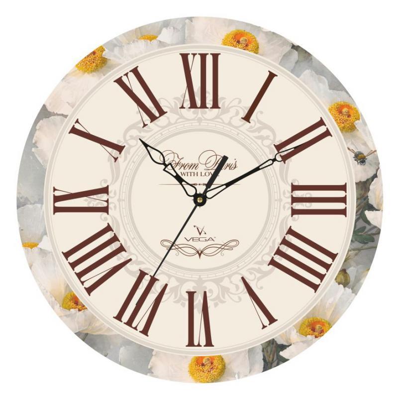 Часы настенные Вега Цветочная классикаП1-245/7-245