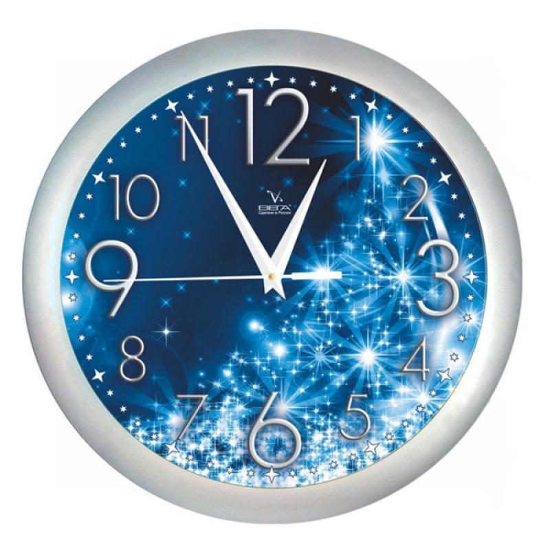 Часы настенные Вега СияниеП1-серебро/7-231