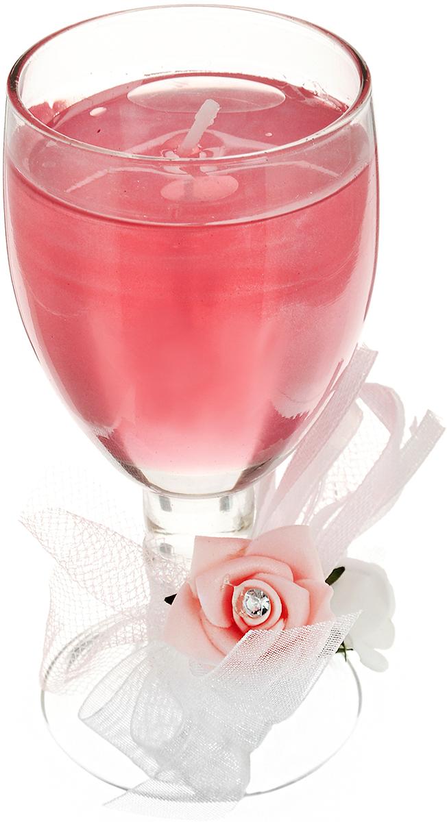 Свеча декоративная Lovemark Розы, 5 х 5 х 11 смUP210DFДекоративная свеча Lovemark Розы, изготовленная из геля и парафина, помещена в подсвечник, выполненный из стекла в виде бокала. Изделие отличается оригинальным дизайном. Такая свеча не только поможет дополнить интерьер вашей комнаты, но и станет отличным подарком.