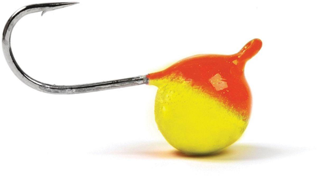 Мормышка вольфрамовая Asseri Шар, с ушком, цвет: красный, желтый, диаметр 5,2 мм, вес 1,35 г, 5 шт03/1/12Мормышка Asseri Шар изготовлена из вольфрама и оснащена крючком. Она небольшого размера и окрашена так, чтобы издалека привлечь рыбу. Главное достоинство вольфрамовой мормышки - большой вес при малом объеме. Эта особенность дает большие преимущества при ловле, так как позволяет быстро погрузить приманку на требуемую глубину и лучше чувствовать игру мормышки.