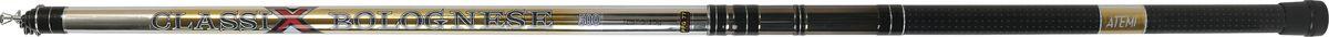 Удилище телескопическое Atemi Classix Bolognese, облегченное, с керамическими кольцами, 4 м, 5-15 г205-02400Atemi Classix Bolognese - это телескопическое удилище, выполненное из облегченного стекловолокна. На рукоять нанесено противоскользящее покрытие. И установлен быстродействующий катушкодержатель типа CLIP UP. Удилище укомплектовано элегантными облегченными кольцами на высоких ножках.