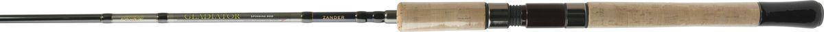 Cпиннинг штекерный Atemi Gladiator Zander, 3,00 м, 7-45 г2-187 Россия ПЭ/черныйCпиннинг штекерный ATEMI Gladiator Zander 3 м 7- 45гр. произведен из высокомодульного графита IM-6, что делает его конструкцию прочной и надёжной. Спиннинг состоит из двух частей.Строй данной серии спиннингов - быстрый. Кольца со вставками SIC, особенностью которых является низкая теплопроводность. Вставки SIC на кольцах с напыление соединений титана.При активной работе леска или шнур агрессивно воздействуют на внутреннюю поверхность кольца - создавая огромное давление и трение, приводят к критическому нагреванию внутренней поверхности кольца, причем в одной точке. Это ведет к резкому точечному термопоражению кольца, повреждения вставки и клея, как следствие вставки просто вылетают из рамки, приводя в негодность всю снасть.Решить эту проблему призваны кольца с керамическими вставками SIC. Точный состав колец - карбид кремния, дополнительно покрытый напылением из соединений титана, что придает кольцам красивый золотой цвет и особую прочность. Уж такой состав точно не протрет шнур.Общий сплав вставок колец представляет собой легкий, хрупкий материал, требующий бережного отношения.А вот у колец со вставками из SiC при трении лески о кольцо тепло равномерно распределяется по всему диаметру кольца и рамке. Это основное преимущество колец со вставками SIC, т.е. кольцо нагревается полностью, перераспределяя равномерно тепло.По этому при покупке спиннингов настоятельно рекомендуем обращать внимание на кольца, иначе так и не поймете почему спиннинг вышел из работы.Спиннинг имеет невесомую рукоятку из натурального пробкового дерева, что особенно оценят профессиональные рыболовы за приятные тактильные ощущения. Вес спиннинга штекерного ATEMI Gladiator Zander 3 м 7-45гр.составляет 230 гр., что довольно мало и этот показатель позволит ловить рыбу длительное время без особых усилий, не думаю, что рука устанет. Длина спиннинга большая - 3 метра, как раз для ловли судака на джиговые приманки. Тест 7-45 г