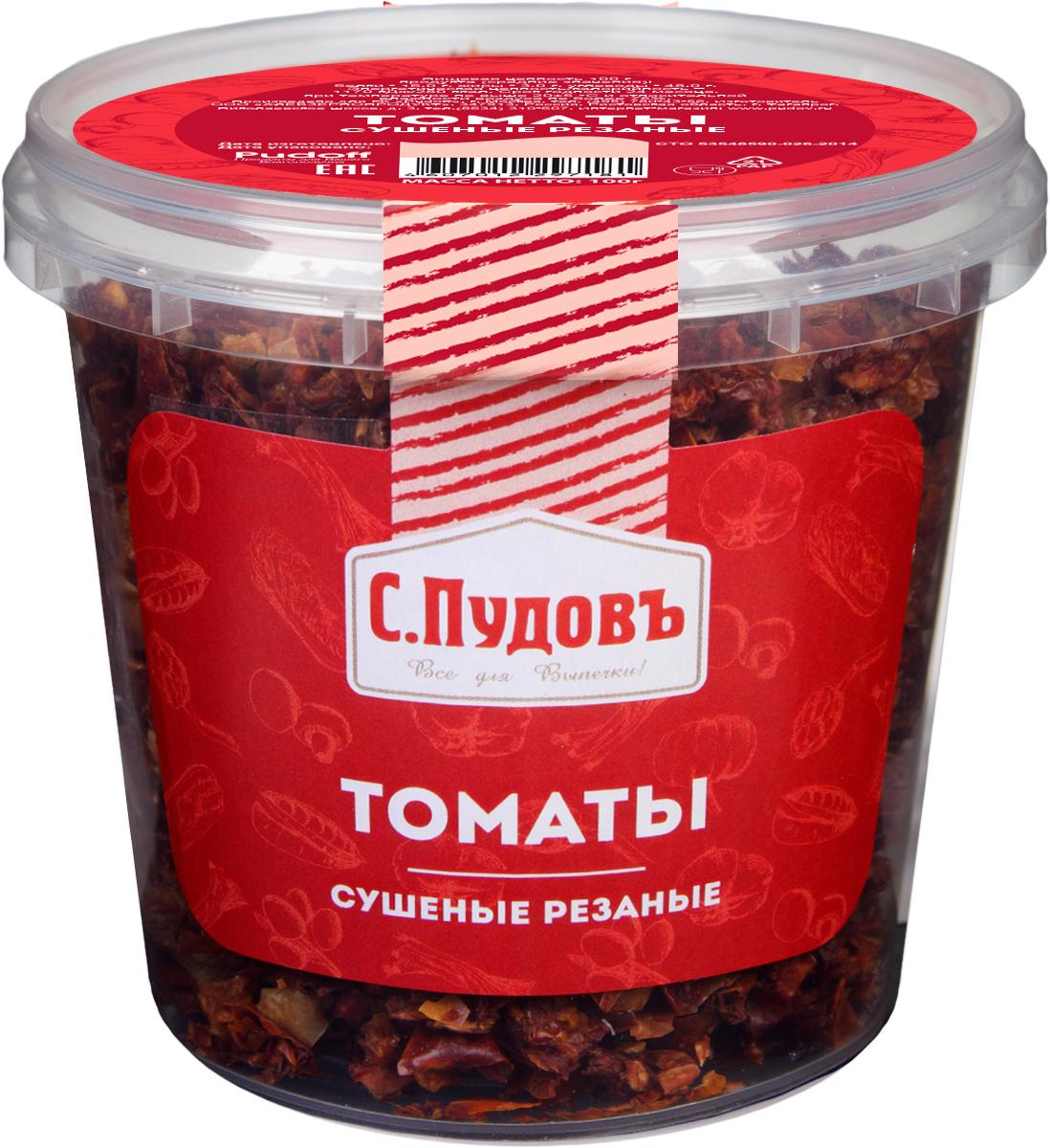 С. Пудовъ Пудовъ томаты сушеные резаные, 100 г 4607012297181