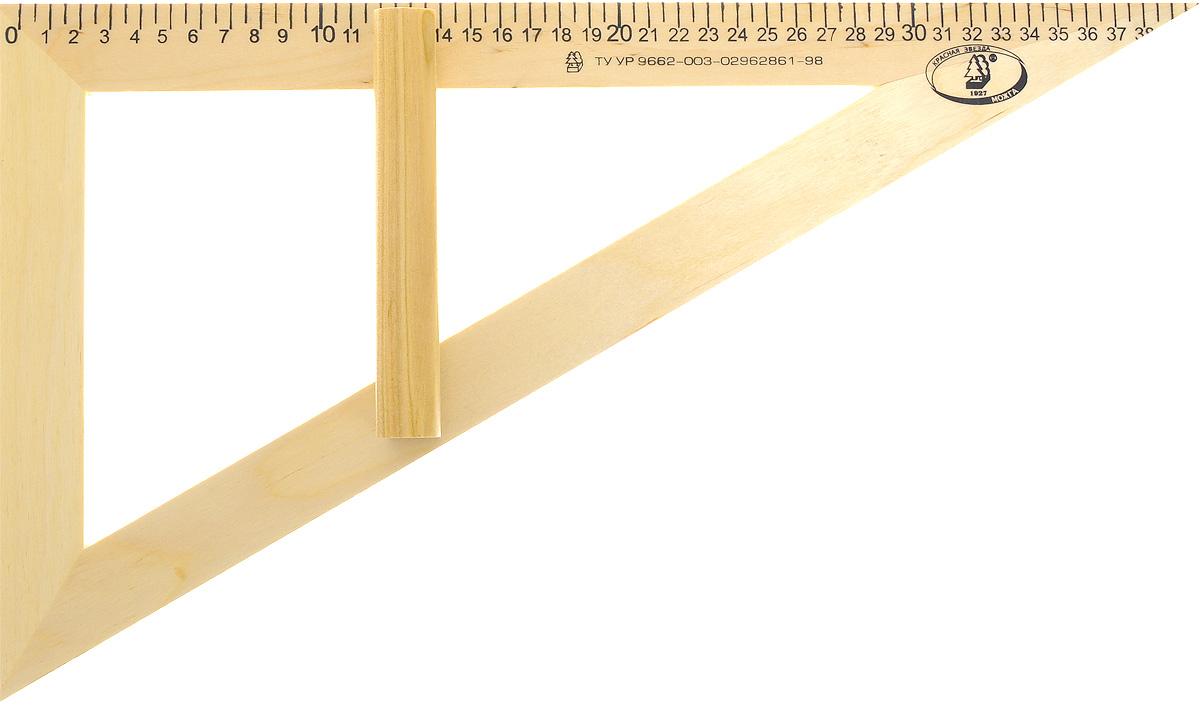 Красная звезда Угольник классный 30 градусов 40 смС364Угольник классный Красная звезда изготовлен из твердолиственных пород древесины. Имеет лакированную поверхность. Угольник - незаменимый помощник учителя геометрии, алгебры, физики, имеет ручку для удобства черчения на вертикальной или наклонной школьной доске. Длина шкалы - 400 мм.
