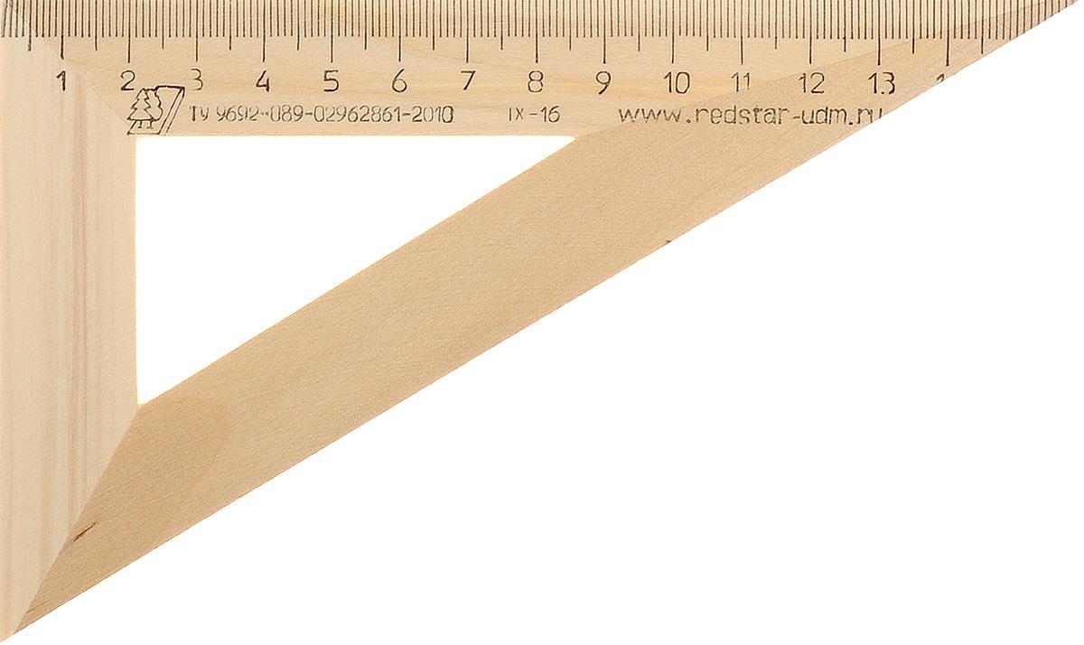 Красная звезда Угольник 30 градусов 16 смС139Угольник Красная звезда с углом в 30 градусов изготовлен из твердолиственных пород древесины. Имеет износостойкую одностороннюю шкалу, длина шкалы - 160 мм.