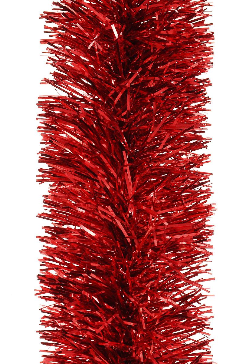 Мишура новогодняя Moranduzzo, цвет: красный, диаметр 5 см, длина 2 м531-401Мишура новогодняя Moranduzzo, выполненная из ПВХ, поможет вам украсить свой дом к предстоящим праздникам. Новогодняя елка с таким украшением станет еще наряднее. Новогодней мишурой можно украсить все, что угодно - елку, квартиру, дачу, офис - как внутри, так и снаружи. Можно сложить новогодние поздравления, буквы и цифры, мишурой можно украсить и дополнить гирлянды, можно выделить дверные колонны, оплести дверные проемы.