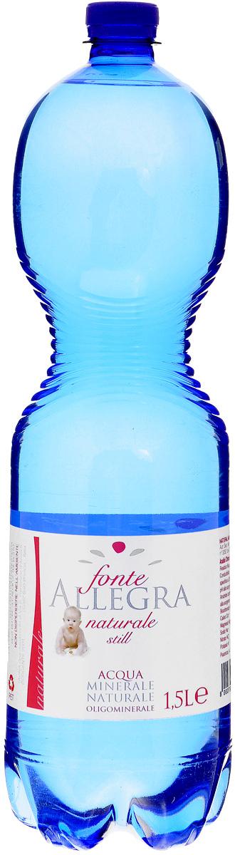 Fonte Allegra минеральная вода негазированая, 1.5 л (ПЭТ) минеральная вода славяновская 1 5 л пэт гост