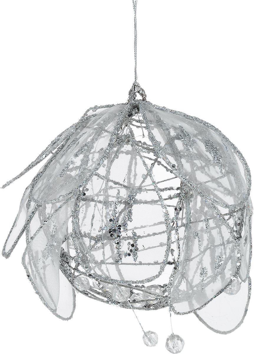 Украшение новогоднее подвесное Lovemark Шар, диаметр 10 смJS63015-3Новогоднее подвесное украшение Lovemark Шар выполнено из пластика, металла и органзы. С помощью специальной петельки украшение можно повесить в любом понравившемся вам месте. Но, конечно, удачнее всего оно будет смотреться на праздничной елке. Елочная игрушка - символ Нового года. Она несет в себе волшебство и красоту праздника. Создайте в своем доме атмосферу веселья и радости, украшая новогоднюю елку нарядными игрушками, которые будут из года в год накапливать теплоту воспоминаний.