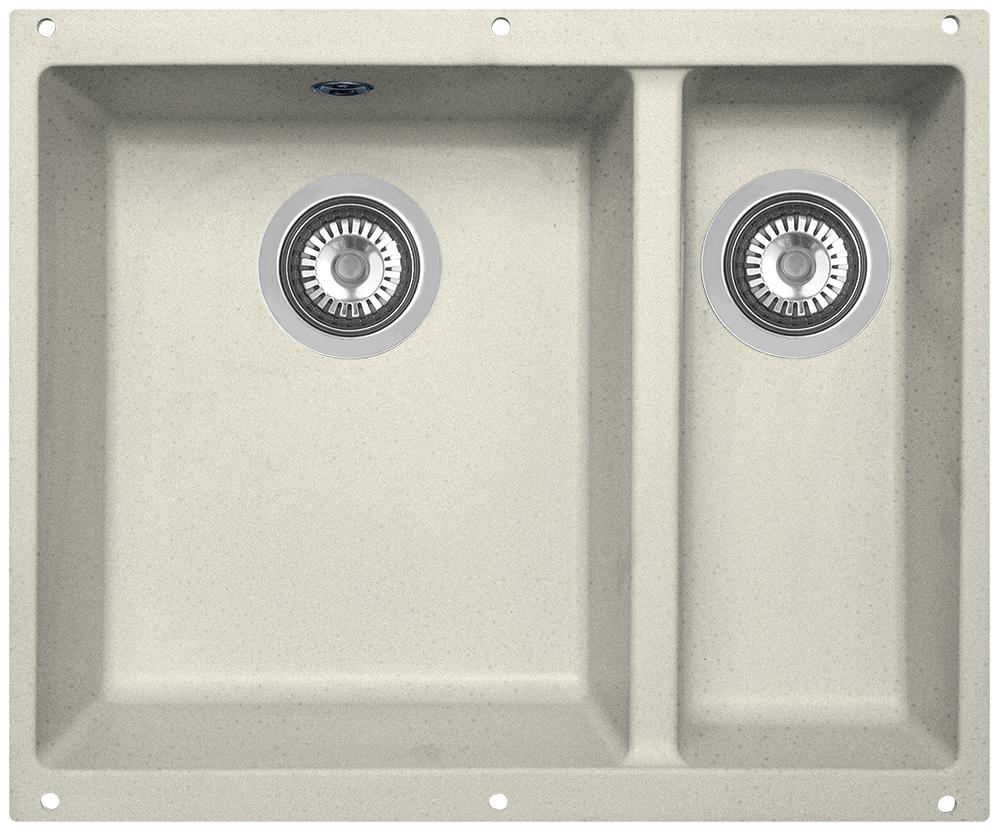 Мойка кухонная Zigmund & Shtain, подстольная, 2 чаши, цвет: каменная соль. integra5002integra5002Zigmund & Shtain INTEGRA 500.2, кухонная мойка с подстольной установкой , иск.гранит, 2 чаши, глубина-19см-основн.13 см-доп. форма- прямоугольная, , Цвет Каменная соль