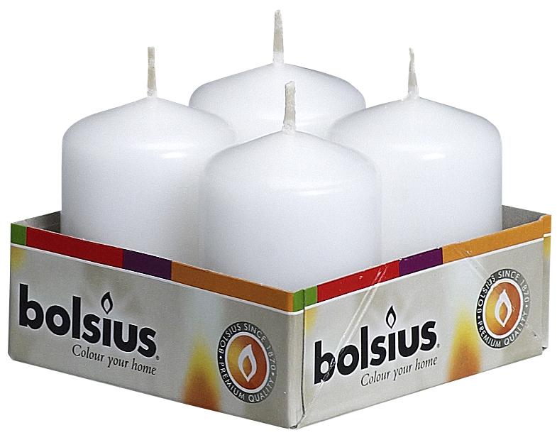 Набор свечей Bolsius, цвет: белый, высота 5,5 см, 4 шт103612560902Набор Bolsius состоит из четырех декоративных свечей, изготовленных из парафина. Такие свечи создадут атмосферу таинственности и загадочности и наполнят ваш дом волшебством и ощущением праздника. Хороший сувенир для друзей и близких.