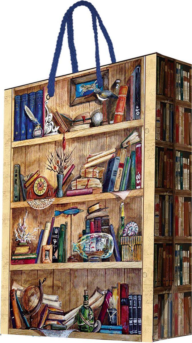 Пакет подарочный Magic Home Книжные полки, 33 х 45,7 х 10,2 см44211Бумажный пакет для сувенирной продукции , с ламинацией, с шириной основания 33 см, плотность бумаги 140 г/м2