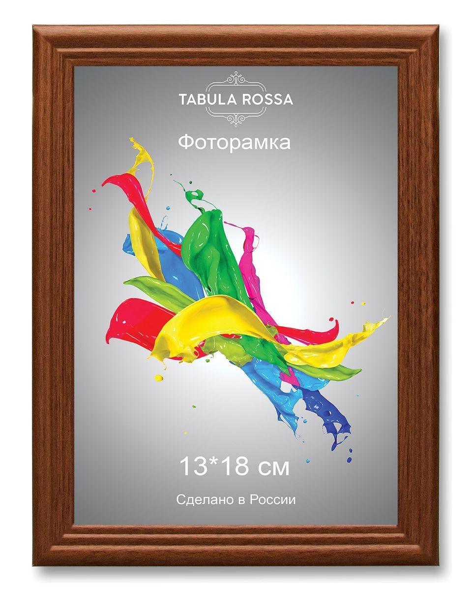 Фоторамка Tabula Rossa, цвет: орех, 13 х 18 см. ТР 5126ТР 5126Фоторамка Tabula Rossa выполнена в классическом стиле из высококачественного МДФ и стекла, защищающего фотографию. Оборотная сторона рамки оснащена специальной ножкой, благодаря которой ее можно поставить на стол или любое другое место в доме или офисе. Также изделие дополнено двумя специальными креплениями для подвешивания на стену. Такая фоторамка не теряет своих свойств со временем, не деформируется и не выцветает. Она поможет вам оригинально и стильно дополнить интерьер помещения, а также позволит сохранить память о дорогих вам людях и интересных событиях вашей жизни.