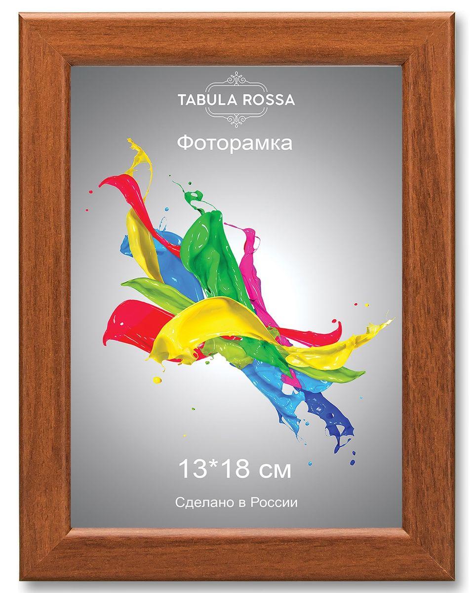 Фоторамка Tabula Rossa, цвет: орех, 13 х 18 см. ТР 5156ТР 5156Фоторамка Tabula Rossa выполнена в классическом стиле из высококачественного МДФ и стекла, защищающего фотографию. Оборотная сторона рамки оснащена специальной ножкой, благодаря которой ее можно поставить на стол или любое другое место в доме или офисе. Также изделие дополнено двумя специальными креплениями для подвешивания на стену. Такая фоторамка не теряет своих свойств со временем, не деформируется и не выцветает. Она поможет вам оригинально и стильно дополнить интерьер помещения, а также позволит сохранить память о дорогих вам людях и интересных событиях вашей жизни.