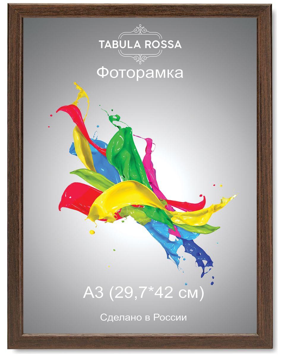 Фоторамка Tabula Rossa, цвет: венге, 29,7 х 42 см. ТР 6040ТР 6040Фоторамка Tabula Rossa выполнена в классическом стиле из высококачественного МДФ и стекла, защищающего фотографию. Оборотная сторона рамки оснащена специальной ножкой, благодаря которой ее можно поставить на стол или любое другое место в доме или офисе. Также изделие дополнено двумя специальными креплениями для подвешивания на стену. Такая фоторамка не теряет своих свойств со временем, не деформируется и не выцветает. Она поможет вам оригинально и стильно дополнить интерьер помещения, а также позволит сохранить память о дорогих вам людях и интересных событиях вашей жизни.
