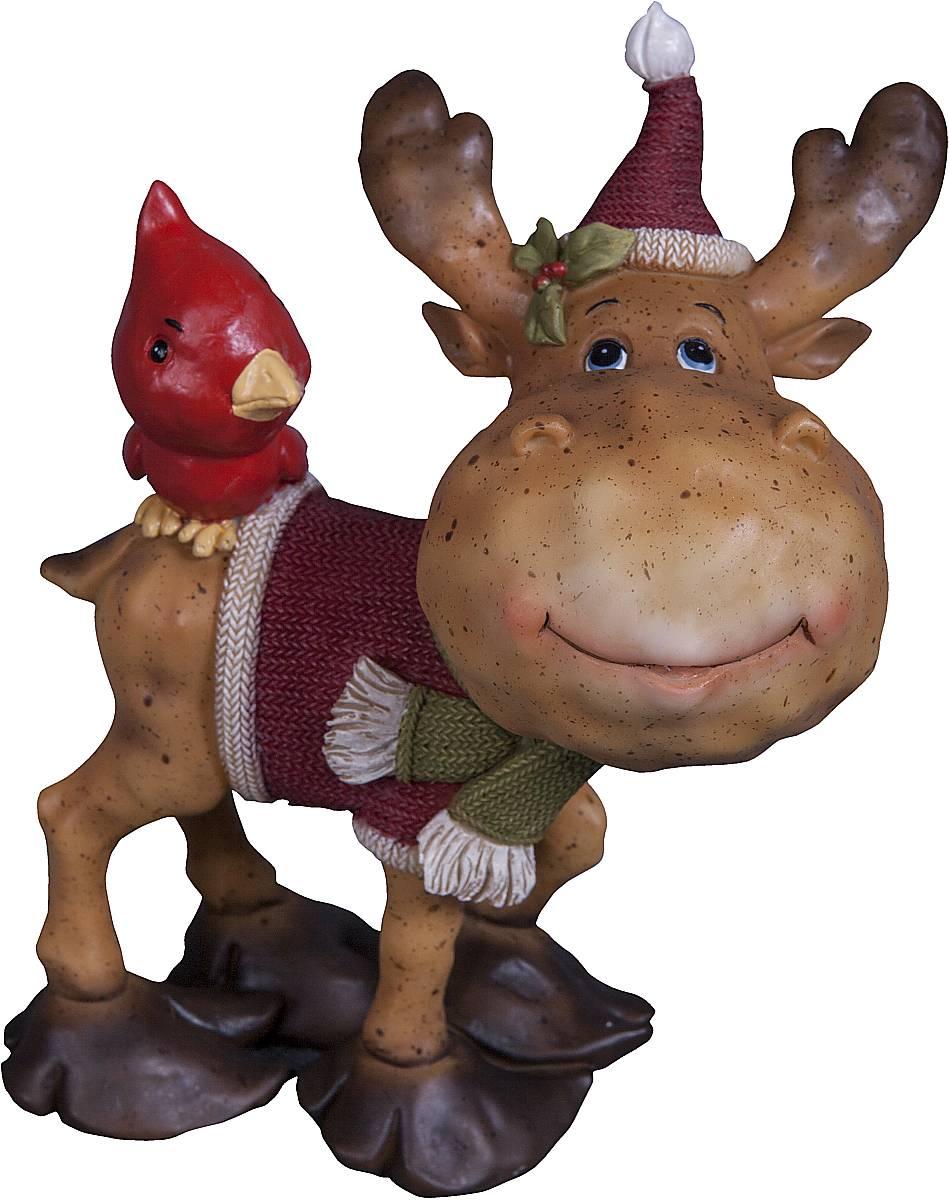 Статуэтка Mister Christmas Северный олень, высота 14 смES-412Статуэтка Mister Christmas Северный олень выполнена из полистоуна в виде забавного северного оленя с птичкой. Она привлекает к себе внимание и буквально умиляет, заставляя улыбнуться.Такой сувенир станет отличным подарком родным или друзьям на Новый год, а также он украсит интерьер вашего дома или офиса.Высота статуэтки: 14 см.